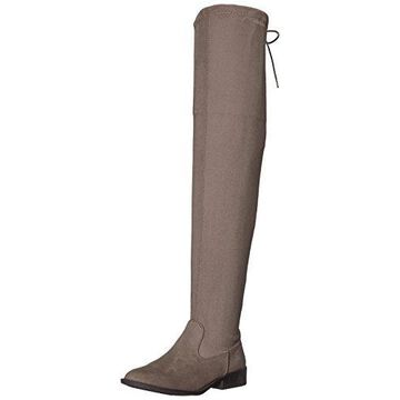 Qupid Women's VINCI-49XX Over The Knee Boot, Taupe, 6.5 M US