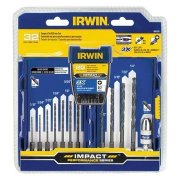 Irwin 1840319 Steel Drill & Drive Set 32 Count