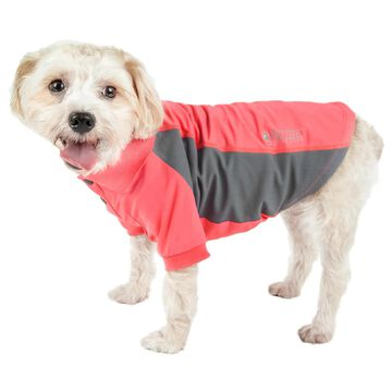 Pet Life Active Barko Pawlo Relax-Stretch Dog Polo Red T-Shirt, Large