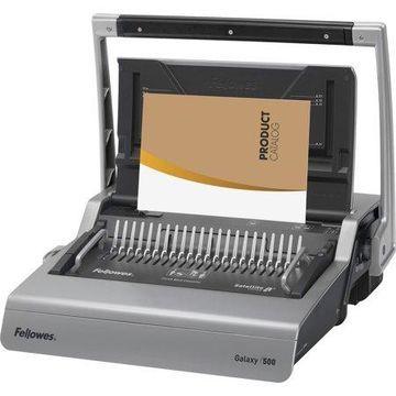 Fellowes, FEL5218201, Gaxaxy 500 Manual Comb Binding Machine, 1 Each, Metallic Silver,Black