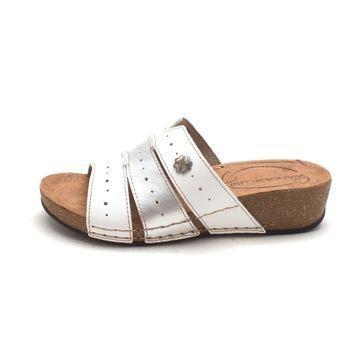 Wanderlust Womens T16074 Leather Open Toe Casual Slide Sandals