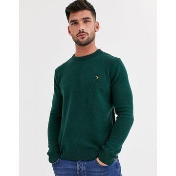Farah Rosecroft crew neck lambswool sweater in green