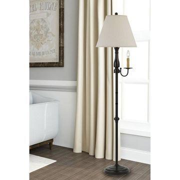 100W Monroe Metal Floor Lamp Dark Bronze - Cal Lighting