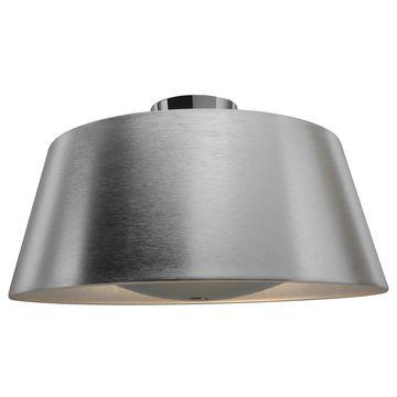 Access Lighting SoHo 3-light Brushed Steel Flush Mount - Silver