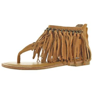 Not Rated Keep The Peace Women's Faux Suede Gladiator Sandal Shoes