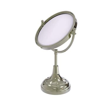 Allied Brass 8-in x 15-in Polished Nickel Double-Sided Magnifying Countertop Vanity Mirror | DM-2/4X-PNI