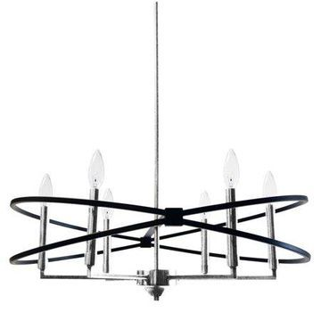 Dainolite 6 Light Incandescent Chandelier - Polished Chrome