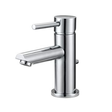 Design House Perth Satin Nickel 2-Handle Single Hole WaterSense Bathroom Sink Faucet with Drain and Deck Plate