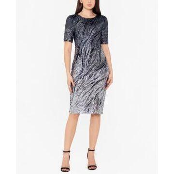 Betsy & Adam Ombre Sparkle Bodycon Dress
