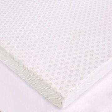 Sleep Philosophy Flexapedic 3-Inch Gel Memory Foam Twin Mattress Topper Cover in White