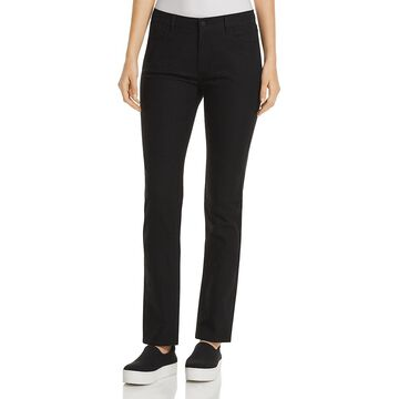 Lafayette 148 New York Womens Thompson Textured Low Rise Pants