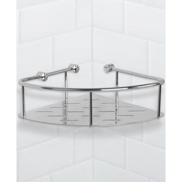 General Hotel Chrome Corner Shower Basket