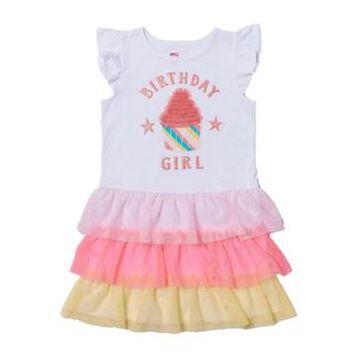 Little Girls Graphic Tiered Tutu Dress