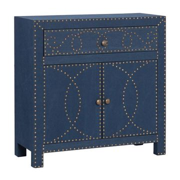 Boston Loft Furnishings Navy 1-Drawer Accent Chest