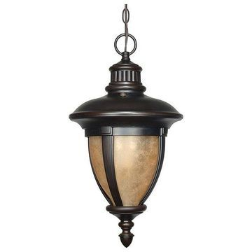 Nuvo Lighting Galeon Outdoor Hanging Lantern With Photocell Old Penny B