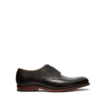 Grenson - Liam Leather Derby Shoes - Mens - Black