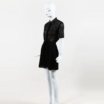 Mary Katrantzou Black Cotton Jumpsuits