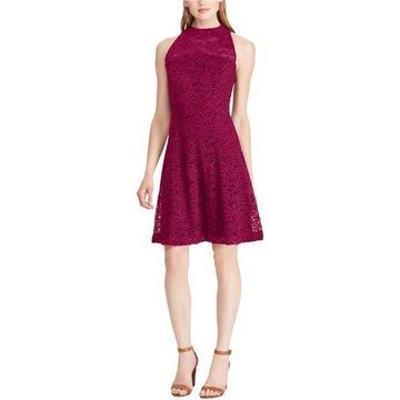 American Living Womens Lace A-line Dress
