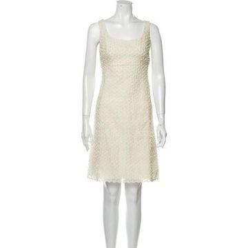 Scoop Neck Mini Dress w/ Tags White