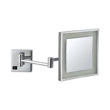 Nameeks Glimmer Square Wall-Mounted Led 3x Makeup Mirror Bedding