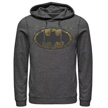 Men's DC Comics Batman Flying Bats Logo Hoodie, Size: Large, Grey