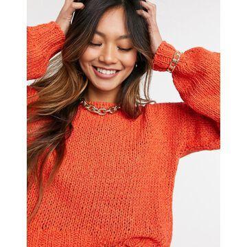 Derek Lam 10 Crosby oversized voluome sleeve sweater in orange