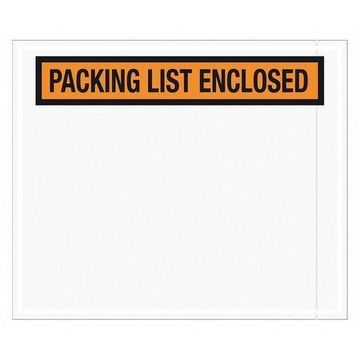 TAPE LOGIC PL434 Packing List Enclosed Envelopes,10''x12'',Orange,PK500
