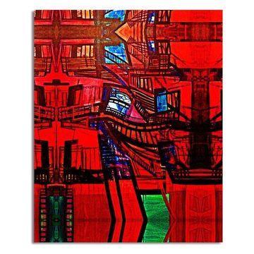 Ready2hangart Bruce Bain 'Abstract Escape' Canvas Wall Art