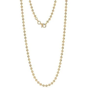 18kt Gold-Plated Sterling Silver 2.5mm Moon-Cut Chain Men's Necklace, 30
