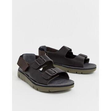 Camper oruga leather chunky sandal in brown