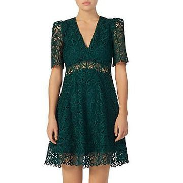 Sandro Hearty Illusion Fit-and-Flare Dress