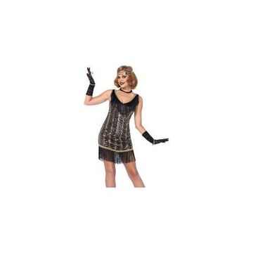 Charleston Charmer Costume 85543 Leg Avenue Black/Gold Large