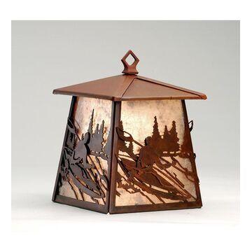 82656 7.5 Inch W Kayaker Lantern Wall Sconce