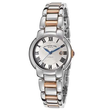 Raymond Weil Women's 2629-S5-01659 Jasmine Automatic Silver Textured Dial Two Tone Stainless Steel