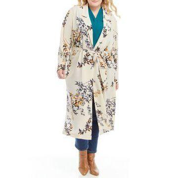 Dex Women's Plus Size Printed Kimono - -