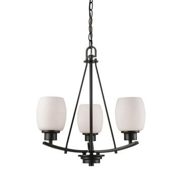 Thomas Lighting Casual Mission 3-Light Oil Rubbed Bronze Transitional Chandelier   CN170321