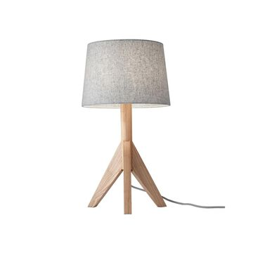 Adesso Ash or Walnut Wood Eden Table Lamp (Natural Ash)