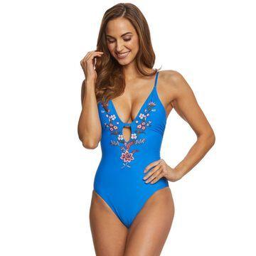 Ella Moss Shiny Spice One Piece Swimsuit
