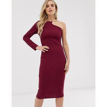 AX Paris one shoulder midi dress-Purple