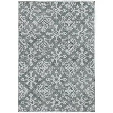 Amer Rugs Bobbie Suzanne Hand-Tufted Wool 5' X 7'6 Area Rug In Graphite