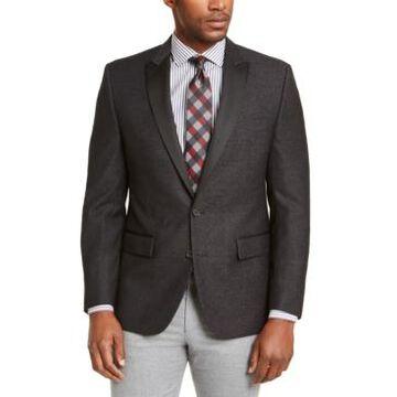 Ryan Seacrest Distinction Men's Modern-Fit Charcoal/White Dinner Jacket, Created for Macy's