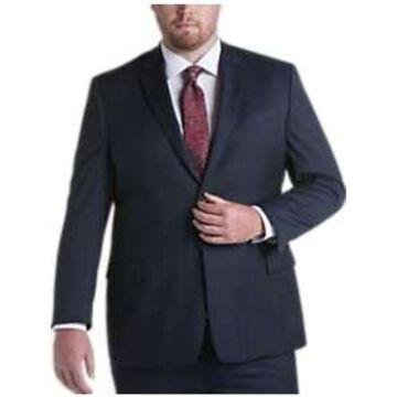 Pronto Uomo Navy Windowpane Executive Fit Suit