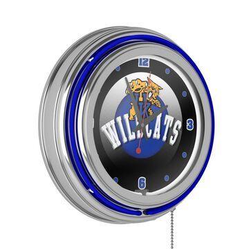 Trademark Gameroom Kentucky Wildcats Clocks Analog Round Wall Clock in Chrome | KY1400-HC