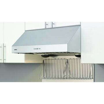 Zephyr AK0712 Back Splash With Warming Shelves for 42 Inch Tempest I Series Models Cooking Appliance Accessories and Parts Range Hood Accessories
