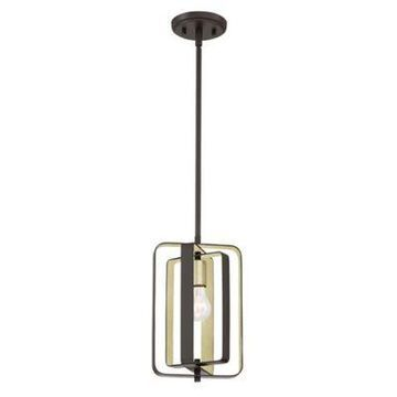 Quoizel Cycle 1-Light Mini Pendant in Western Bronze