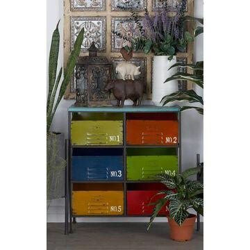 Modern 29 Inch Rectangular 6-Drawer Storage Chest by Studio 350
