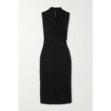 Rick Owens - Abito Gathered Jersey Dress - Black