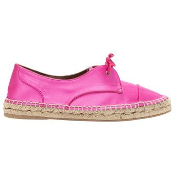 Tabitha Simmons Pink Cloth Flats