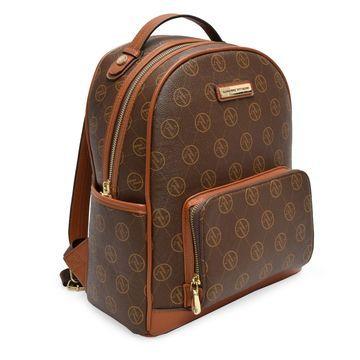 Adrienne Vittadini Chocolate Pebble Grain Backpack