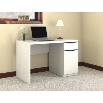 Bush Furniture Montrese Computer Desk in Pure White